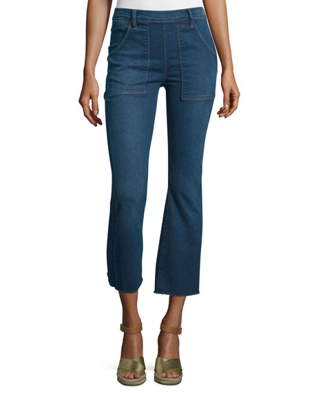 FRAME Le Cropped Flare De Francoise Jeans, Larra