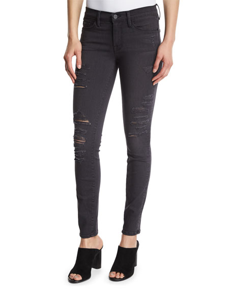 FRAME Le Skinny Satine Distressed Jeans, St. Quintin