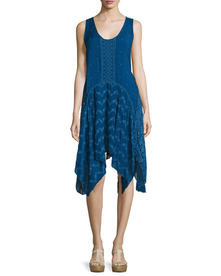 Johnny Was CollectionWindmill Sleeveless Embroidered Dress, Bluebird