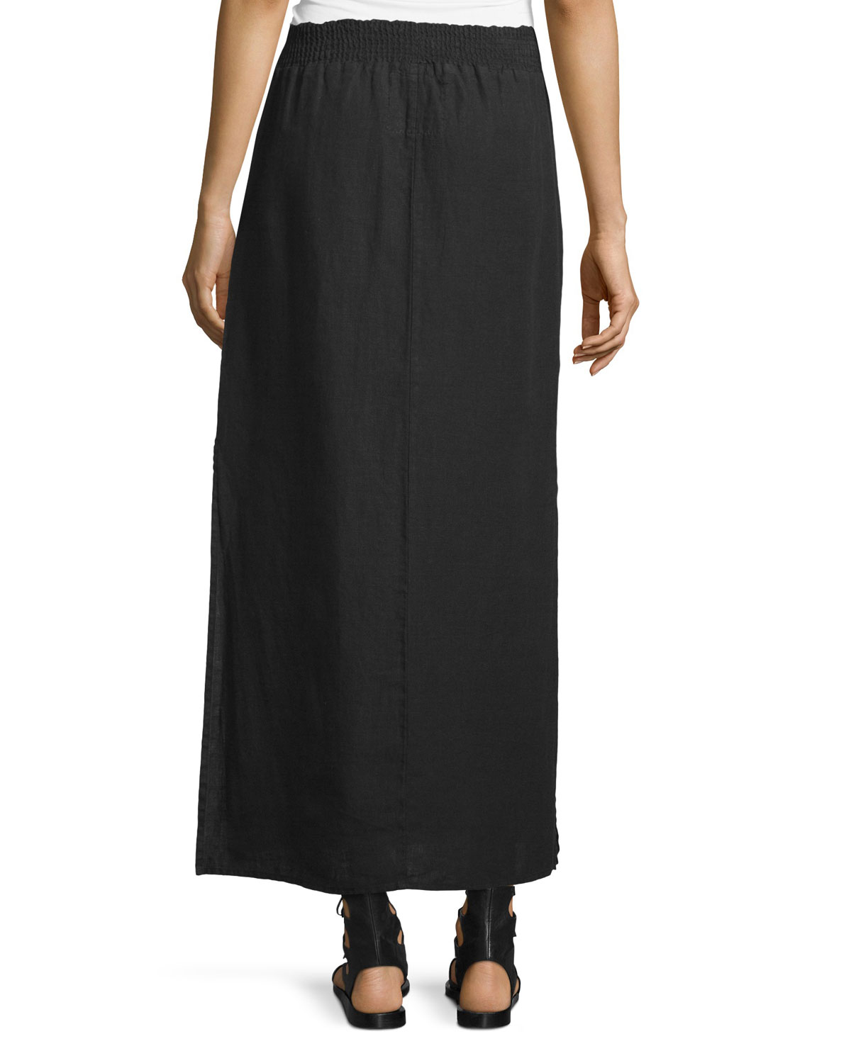 bd3c353a8 JWLA for Johnny Was Zona Embroidered Maxi Skirt, Black | Neiman Marcus