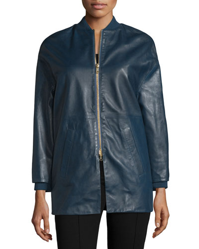 Leather Bomber Jacket, Bucaneve