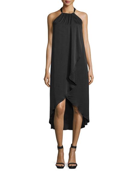 Seti Drape-Front Halter-Neck Dress