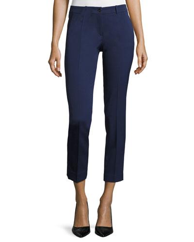 Five-Pocket Straight-Leg Pants, Inidgo