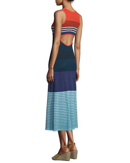 Rosie Sleeveless Colorblock Midi Dress, Multi Colors
