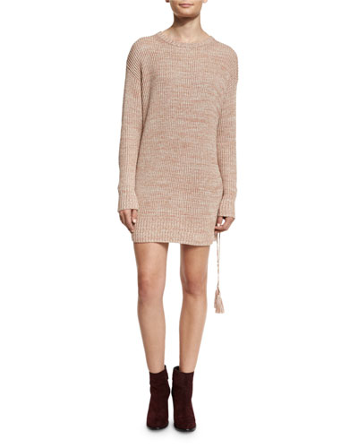 Sonia Sweater Dress w/Lace-Up Side