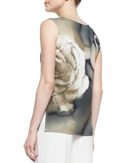 Draped Watercolor Rose-Print Jacket Online Cheap