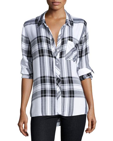 Rails Hunter Plaid Long-Sleeve Shirt, White/Graphite