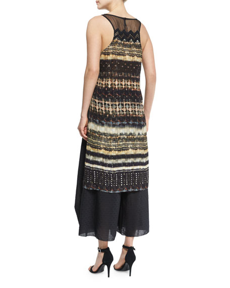 Rachel Sleeveless Printed Top, Maroc Print/Black
