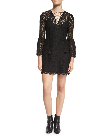 Rachel Zoe Megali Lace-Up Mini Dress