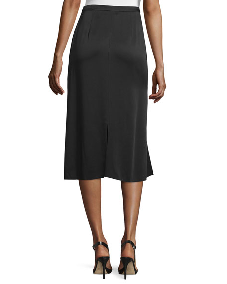 Image 2 of 3: Ellerie Carwash Midi Skirt, Black