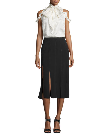 Image 3 of 3: Ellerie Carwash Midi Skirt, Black