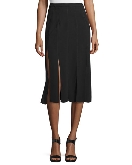Image 1 of 3: Ellerie Carwash Midi Skirt, Black