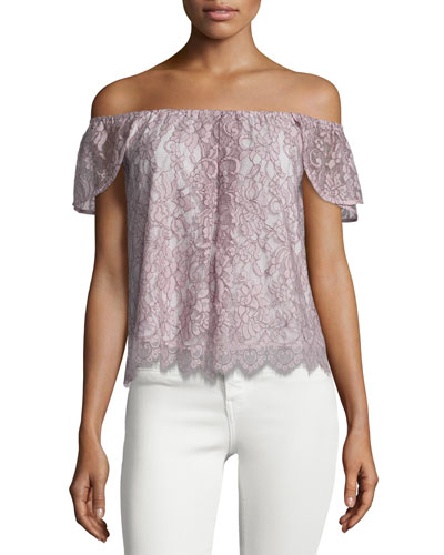 Jasmine Off-The-Shoulder Lace Top