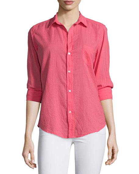 Frank & Eileen Barry Long-Sleeve Voile Shirt, Strawberry