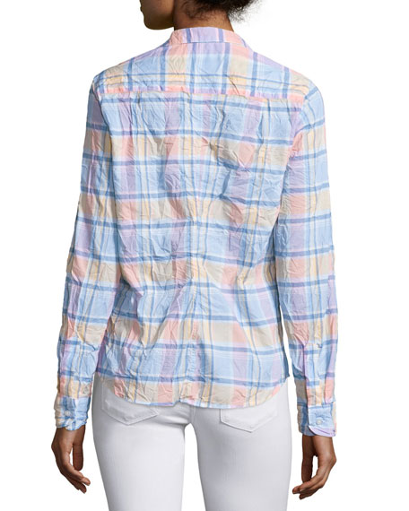 Barry Long-Sleeve Plaid Shirt, Multi Plaid