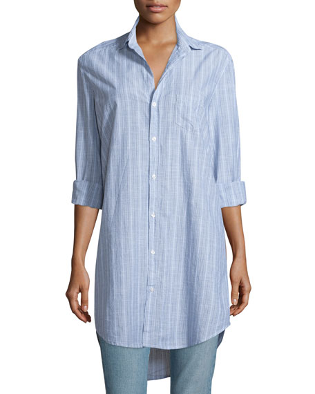 Frank & Eileen Mary Striped Chambray Shirtdress, Multi