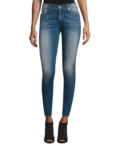 Janine Curvy Skinny Ankle Jeans, Rolling Indigo