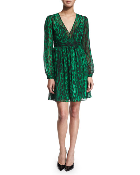MICHAEL Michael Kors High Woods Long-Sleeve Dress