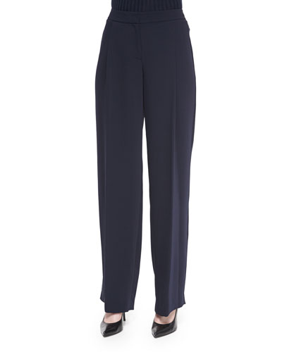 Relaxed Pleated-Front Pants