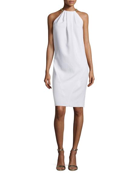 MICHAEL Michael Kors Necklace Halter Shift Dress