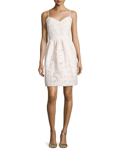Ted Baker London Quancie Sweetheart-Neck Dress, Nude Pink