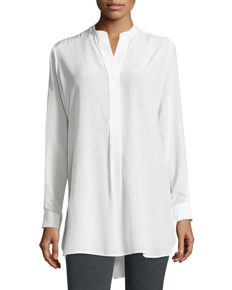 Joseph Dara Long-Sleeve Silk Blouse