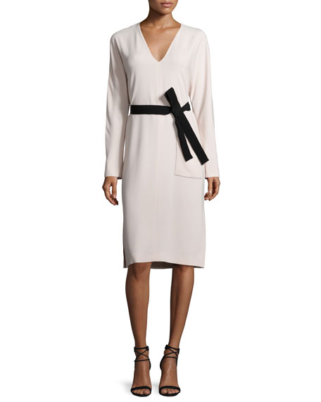 Joseph Jamie Belted Midi Dress, Cameo