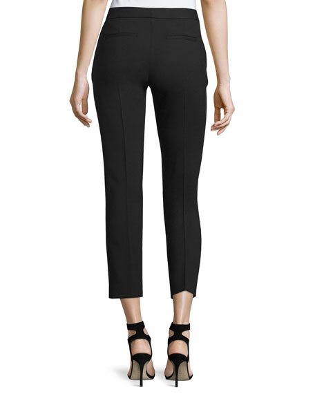 Finley Cropped Wool Pants, Black