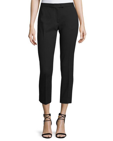 Joseph Finley Cropped Wool Pants, Black
