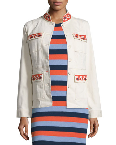 Dayton Embroidered Jacket, New Ivory