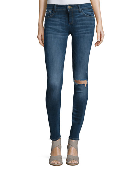 DL1961 Premium Denim Florence Distressed Skinny Ankle Jeans,