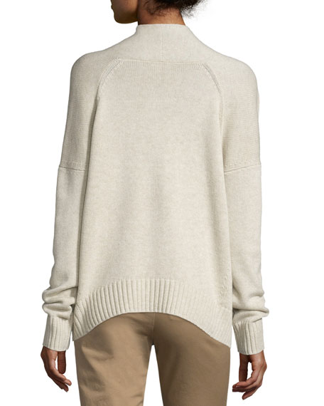 Ribbed Draped-Front Cardigan Best Price