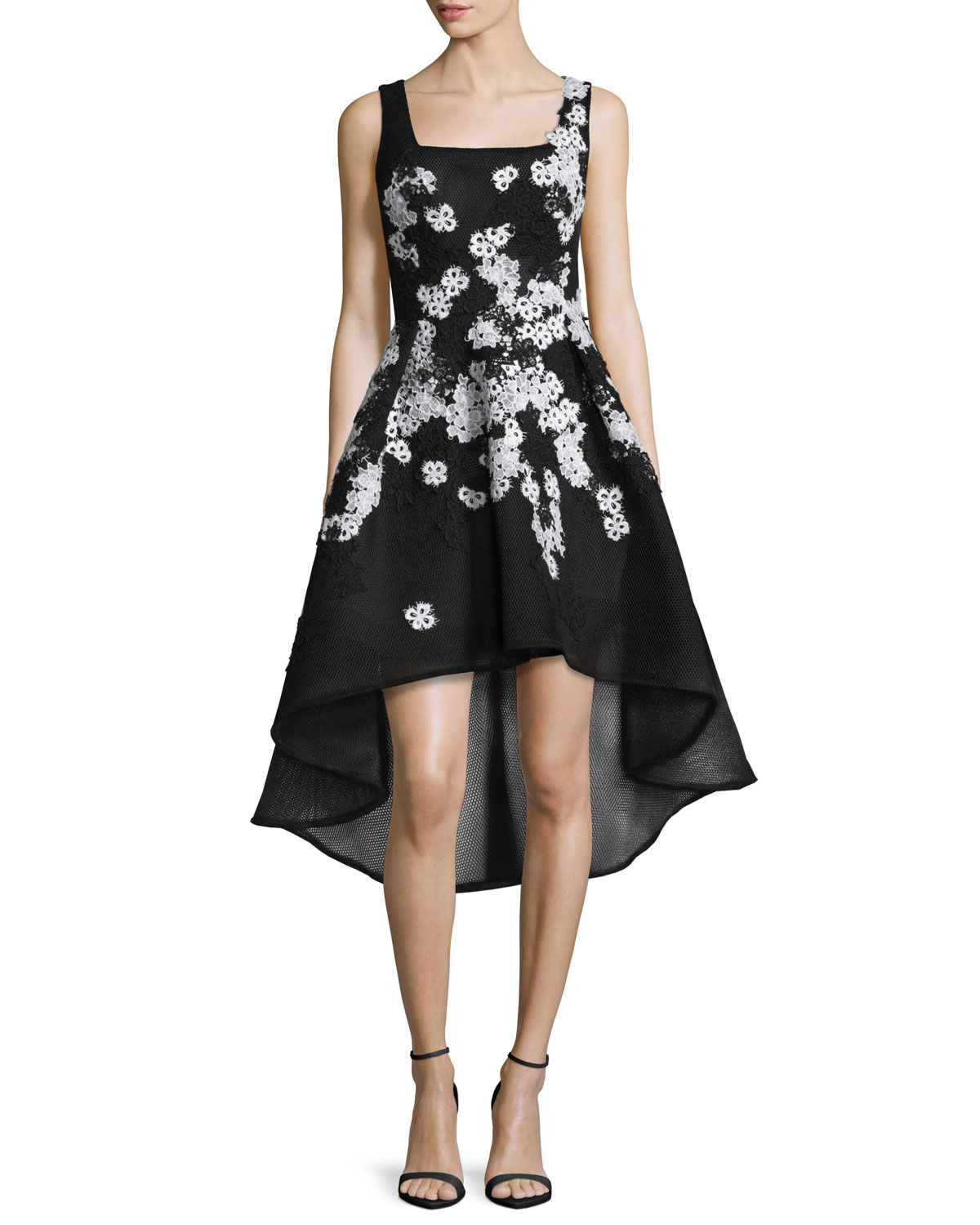 801afaa9bfe4 Jovani Sleeveless High-Low Lace-Trim Cocktail Dress
