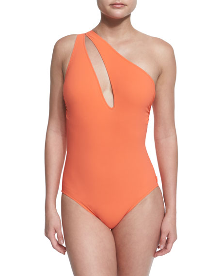 ShanHanna One-Shoulder Swimsuit with Cutout