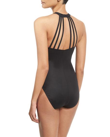 Danika Strappy-Back One-Piece Swimsuit