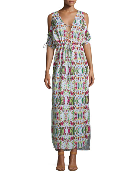 6 Shore Road by Pooja Jungle Printed Maxi Coverup Dress
