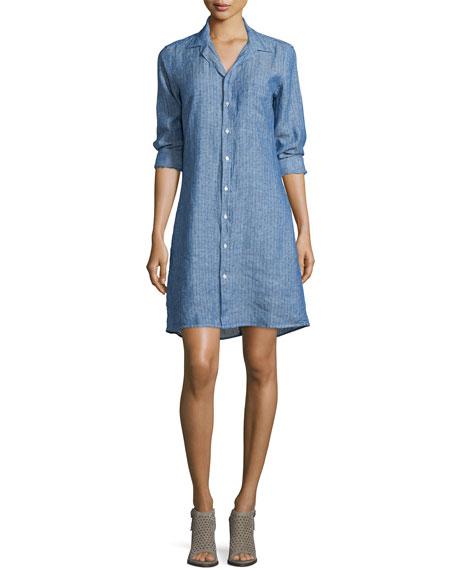 Frank & Eileen Murphy Pindot Linen Shirtdress