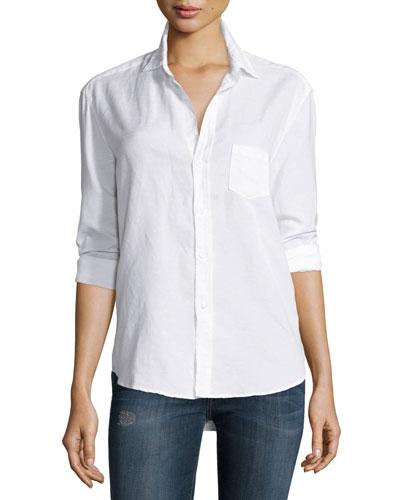 Eileen Button-Front Shirt, White