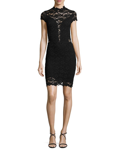 Dixie Lace 16th District Mini Dress, Black
