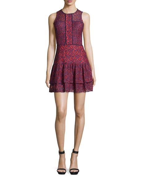 Parker Nerissa Lace Combo Sleeveless Dress, Reef