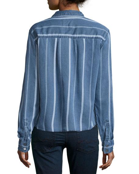 Rails Dana Variegated-Stripe Denim Shirt