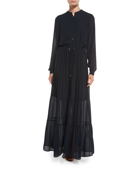 Michael kors button down plus dress maxi