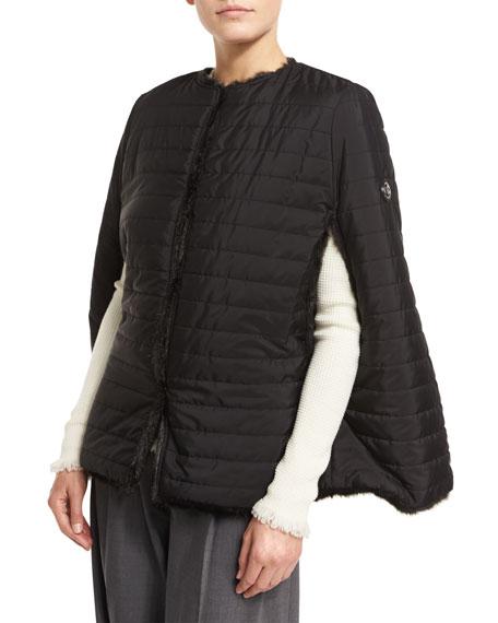 MICHAEL Michael Kors Reversible Quilted Faux Fur Cape 70c08a61e