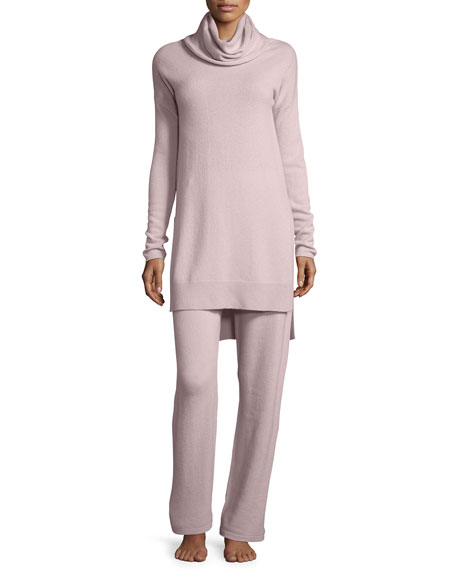 Neiman Marcus Cashmere Collection Cashmere Cowl-Neck Sweater &