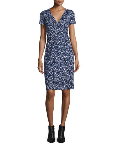 New Julian Two Mini Ribbon Weave Wrap Dress