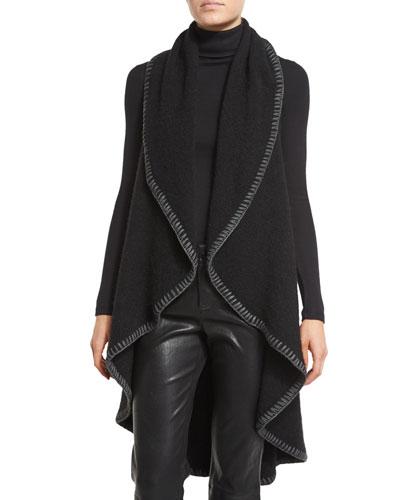Quinn Cascading Circle Vest, Black