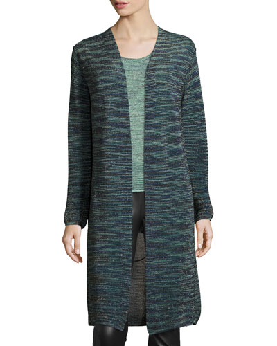Long Space-Dyed Lurex? Duster, Teal