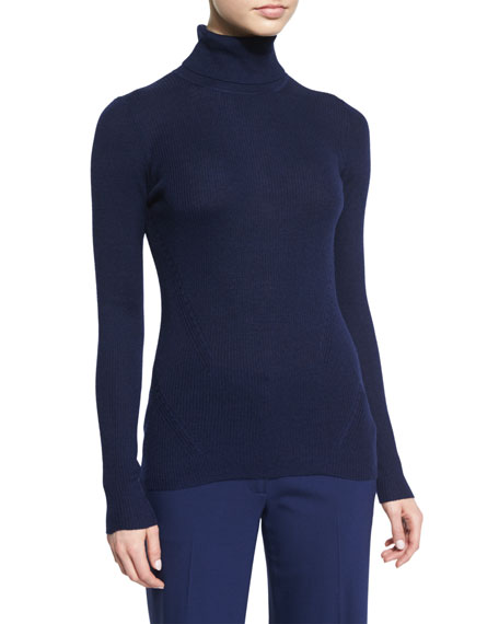 Diane von Furstenberg Sutton Wool-Silk Turtleneck Sweater,