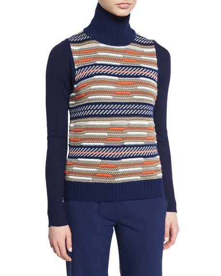 Diane von Furstenberg Carsyn Striped Sweater Vest, Sutton