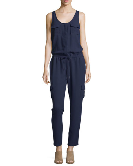 Joie Vernay Crepe Sleeveless Jumpsuit, Dark Navy